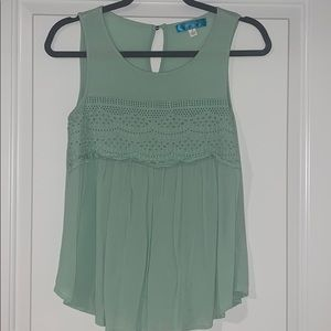 Francesca's Mint Green Sleeveless Top